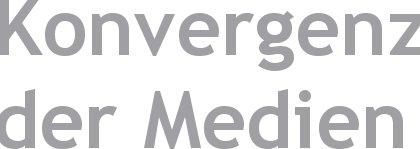 Medienkonvergenz - illustrativer Schriftzug