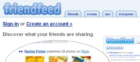 Screenshot von Friendfeed