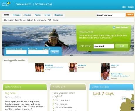 Screenshot Community of Sweden