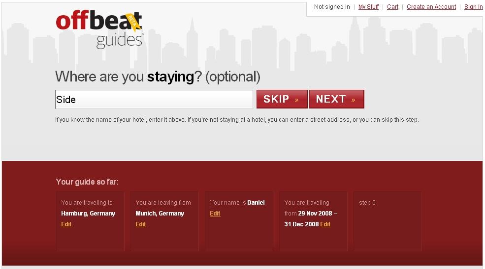 Bild von Webseite Offbeat Guides im Test durch Tourismuszukunft