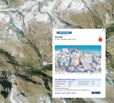 Screenshot Skilayer vom Google Latlong Blog übernommen