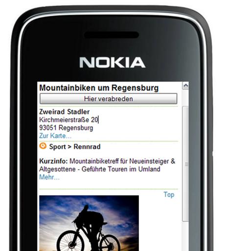 Screenshot Freitimer auf dem Handy