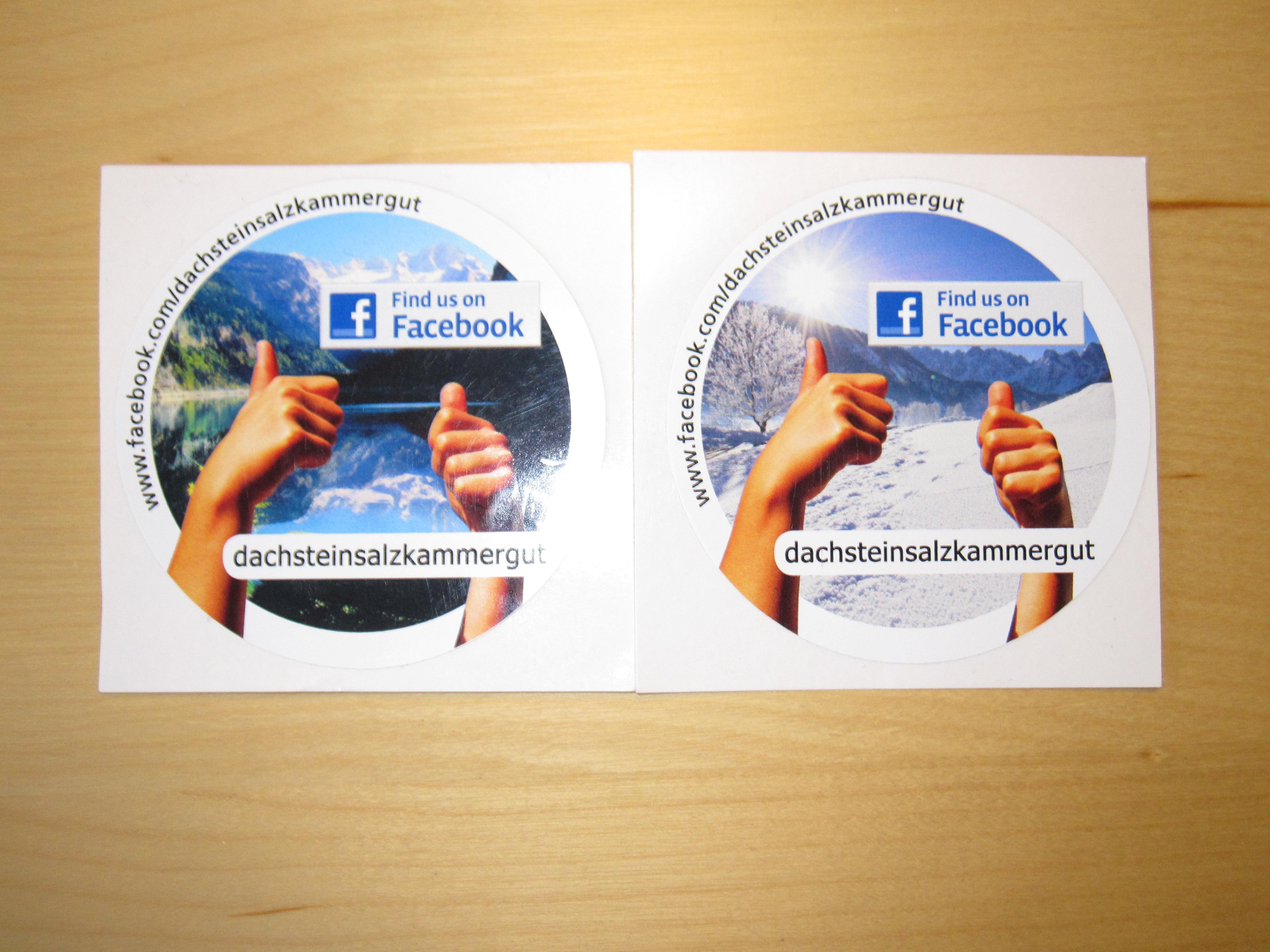 Facebook-Pickerl der Region Dachstein Salzkammergut