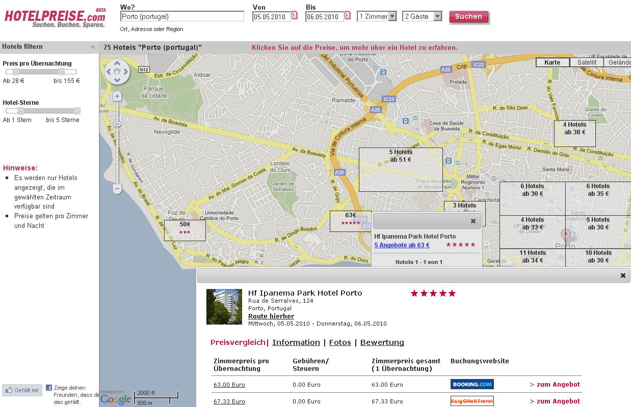 Hotelsuche.com Screenshot