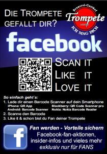 Einer der Social Media Flyer im Braugasthof und Hotel Trompete in Eichstätt