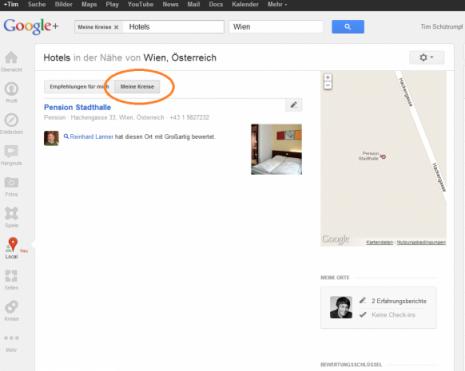 Screenshot einer Bewertung durch einen kontakt