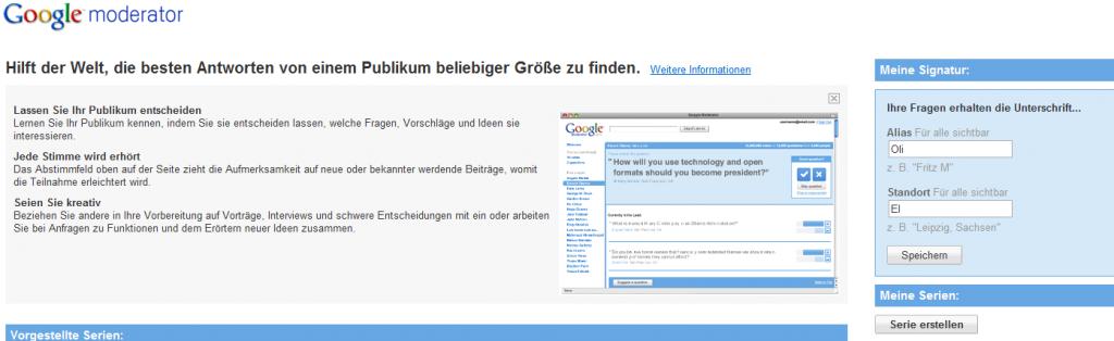 Google Moderator.jpg2 1024x314 Google Moderator   Onlineumfrage mit Google