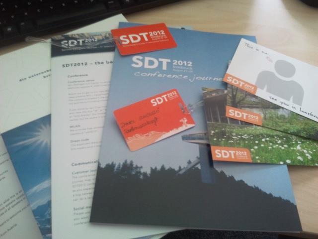 SDT2012 #SDT2012 Programm steht fest   Erste internationale Konferenz zum Thema Service Design im Tourismus