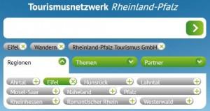 Die Tag-Suche des Tourismusnetzwerk Rheinland-Pfalz