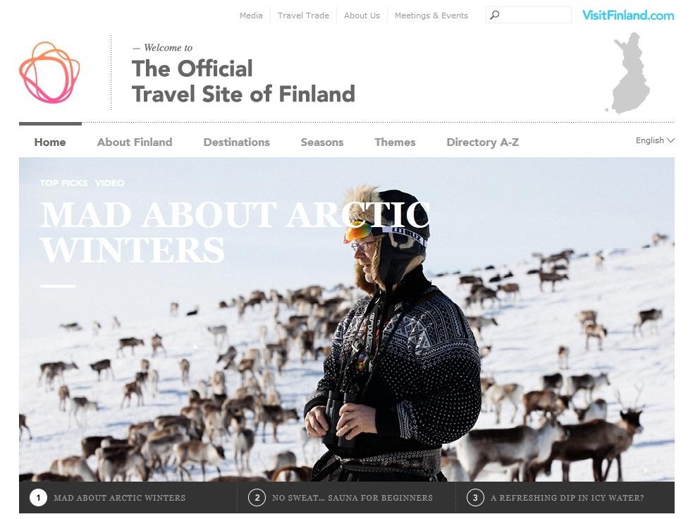 Webseite Visit Finland