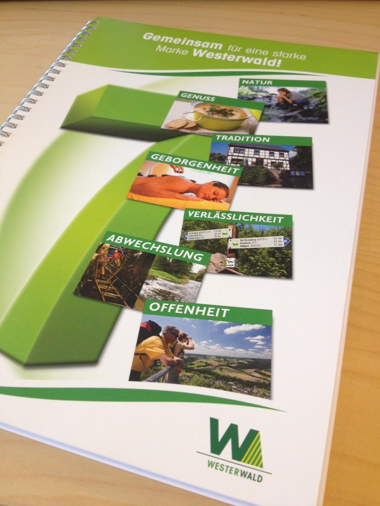 Die 7 Werte des Westerwaldes auf einem Ringblock visualisiert
