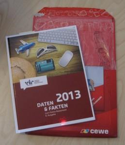 Broschüre des VIR zum Online Reisemarkt 2013