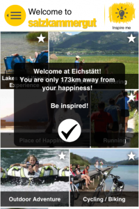 Startseite der mobilen App