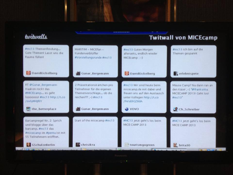 MICEcampLIvewall