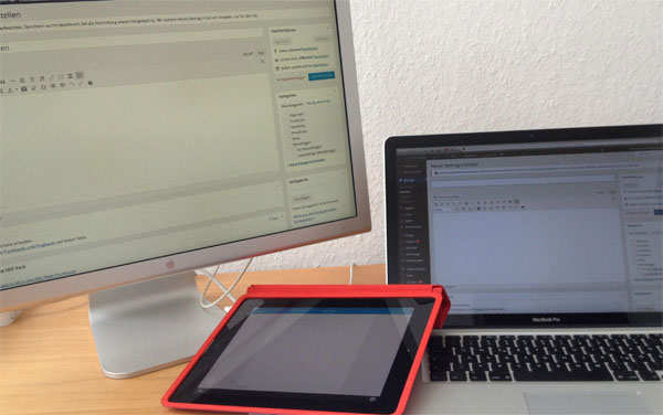 Bloggen: auf Rechner, Laptop oder iPad