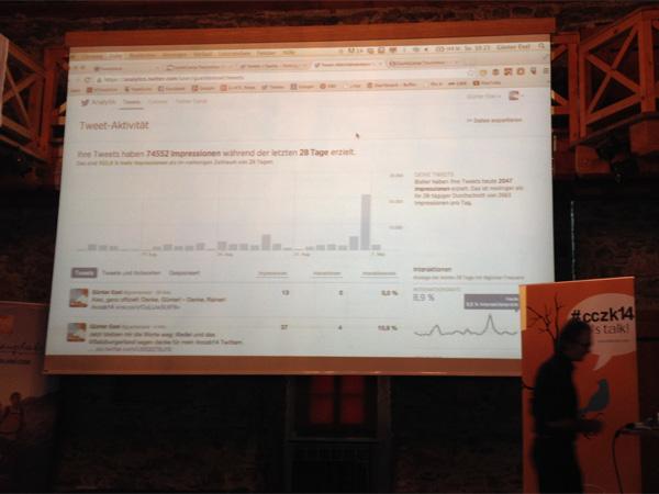 Castlecamp CCZK14: Günter Exel bei seiner Twitter-Session