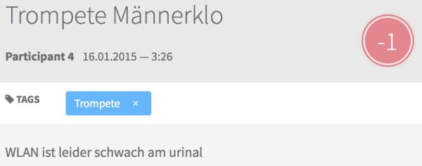 "Abb. 3: ""Kritik"" am WLAN in der Trompete"