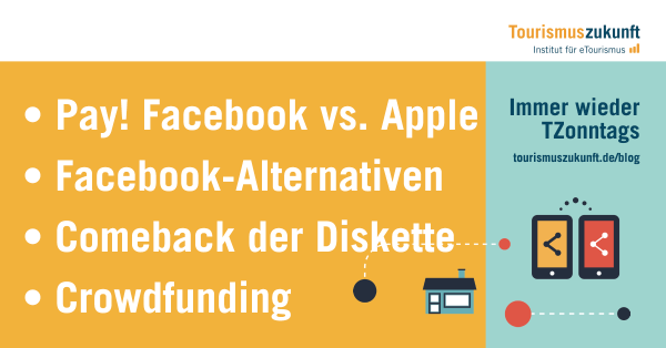 • Pay! Facebook vs. Apple • Facebook-Alternativen • Comeback der Diskette • Crowdfunding