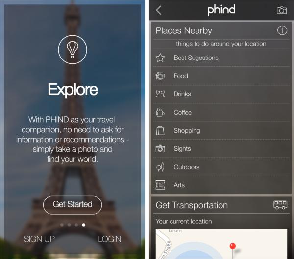 Die iOS App Phind ruft per Foto ruft touristische Informationen ab
