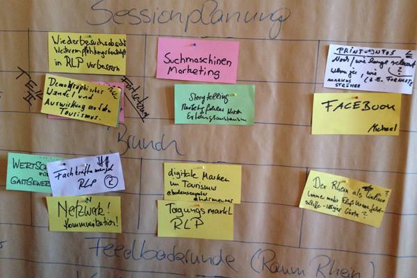 BarCamp Tourismusnetzwerk Rheinland-Pfalz - Sessionplanung #bctn15