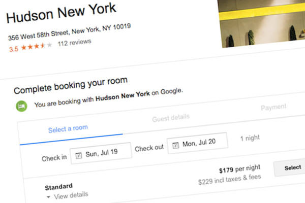 Hotelbuchung auf Google – Screenshot: http://skift.com/2015/07/13/and-then-the-earth-shook-google-enters-travel-booking/