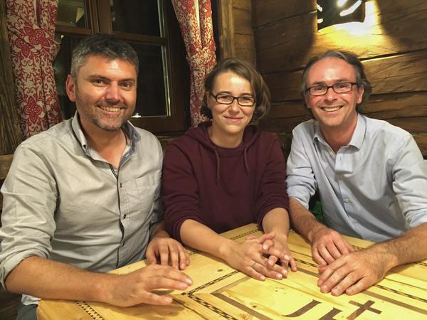 Tourismuszukunft auf dem CastleCamp: Roland Trebo, Kristine Honig-Bock, Günter Exel
