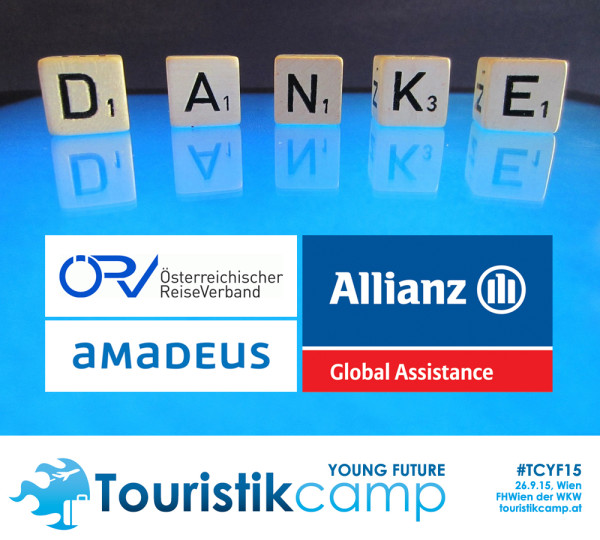 Die Touristikcamp-Sponsoren: ÖRV, Amadeus Austria, Allianz Global Assistance