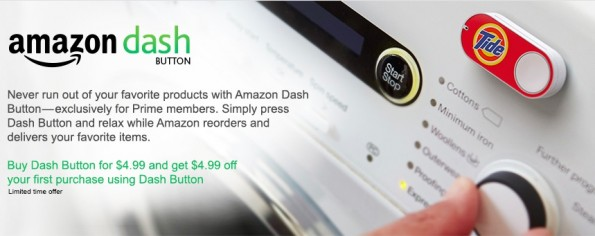 Dash-Services über Wlan-Button. (Screenshot: Amazon) via http://t3n.de/news