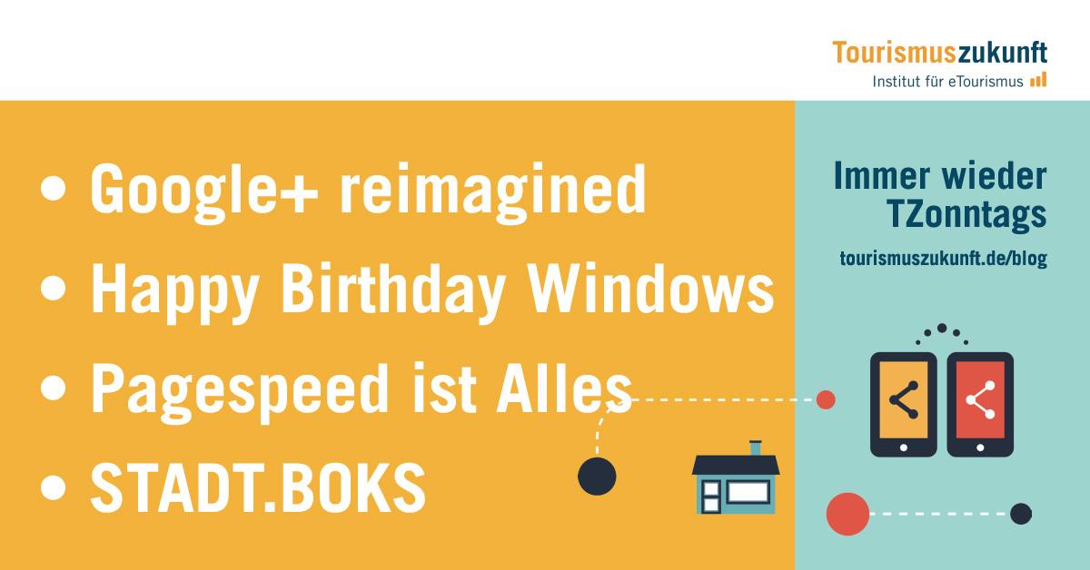 IWTZ Themenbanner 20151122 - Google+; Windows; Pagespeed; STADT.BOKS