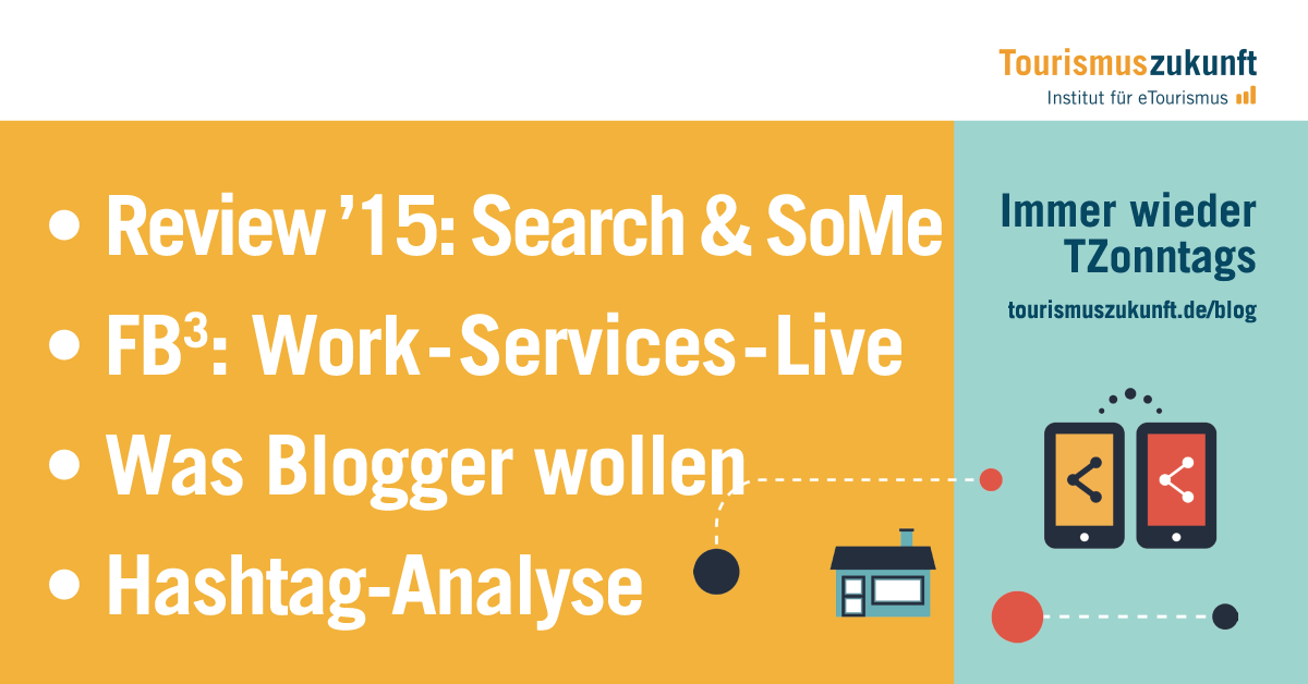 Immer wieder TZonntags, 20.12.2015: Facebook Services, Facebook at Work, Facebook-Live, Hashtag-Analyse, Big-Points der Digitalen Transformation, Social-Media-Jahresrückblick, Suchanfragen 2015