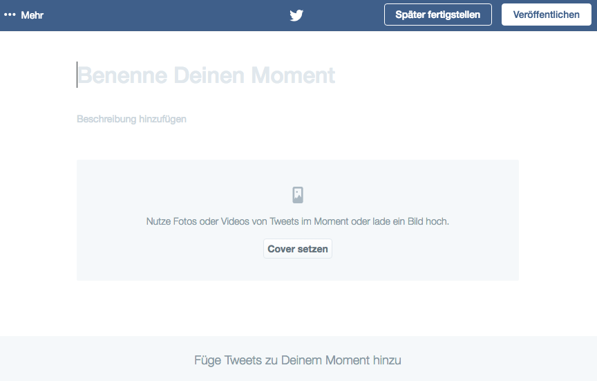 Twitter Moments Editor