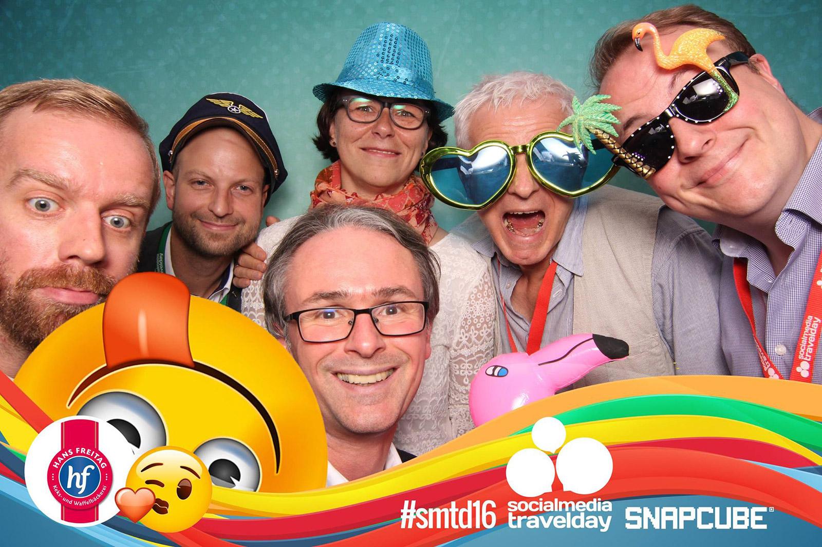 Speaker beim social media travel day 2016: Norbert Brema, Florian Castlunger, Günter Exel, Kristine Honig, Franz-Josef Baldus und Joachim Schmidt