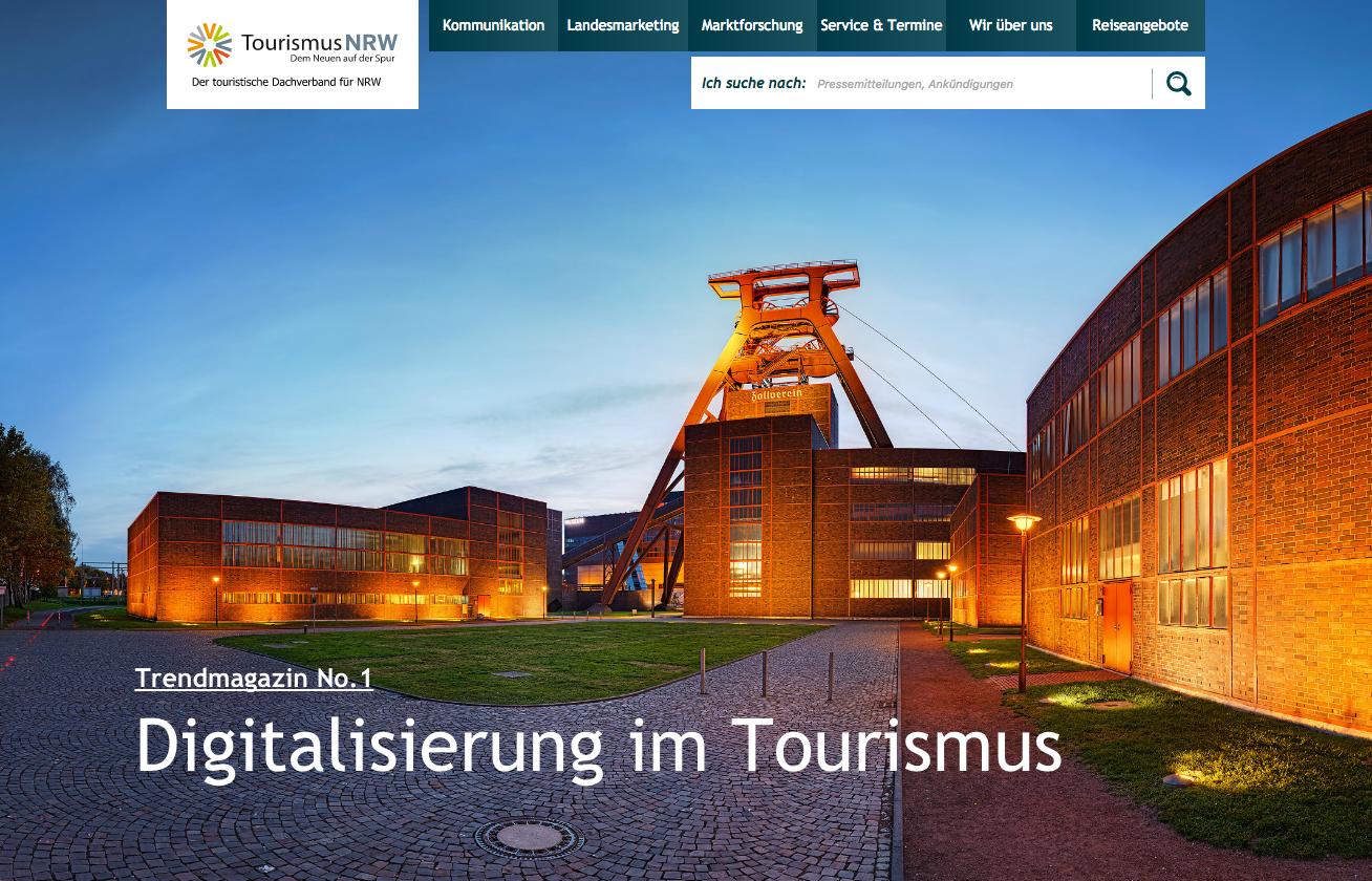 NRW Trendmagazin: Digitalisierung im Tourismus