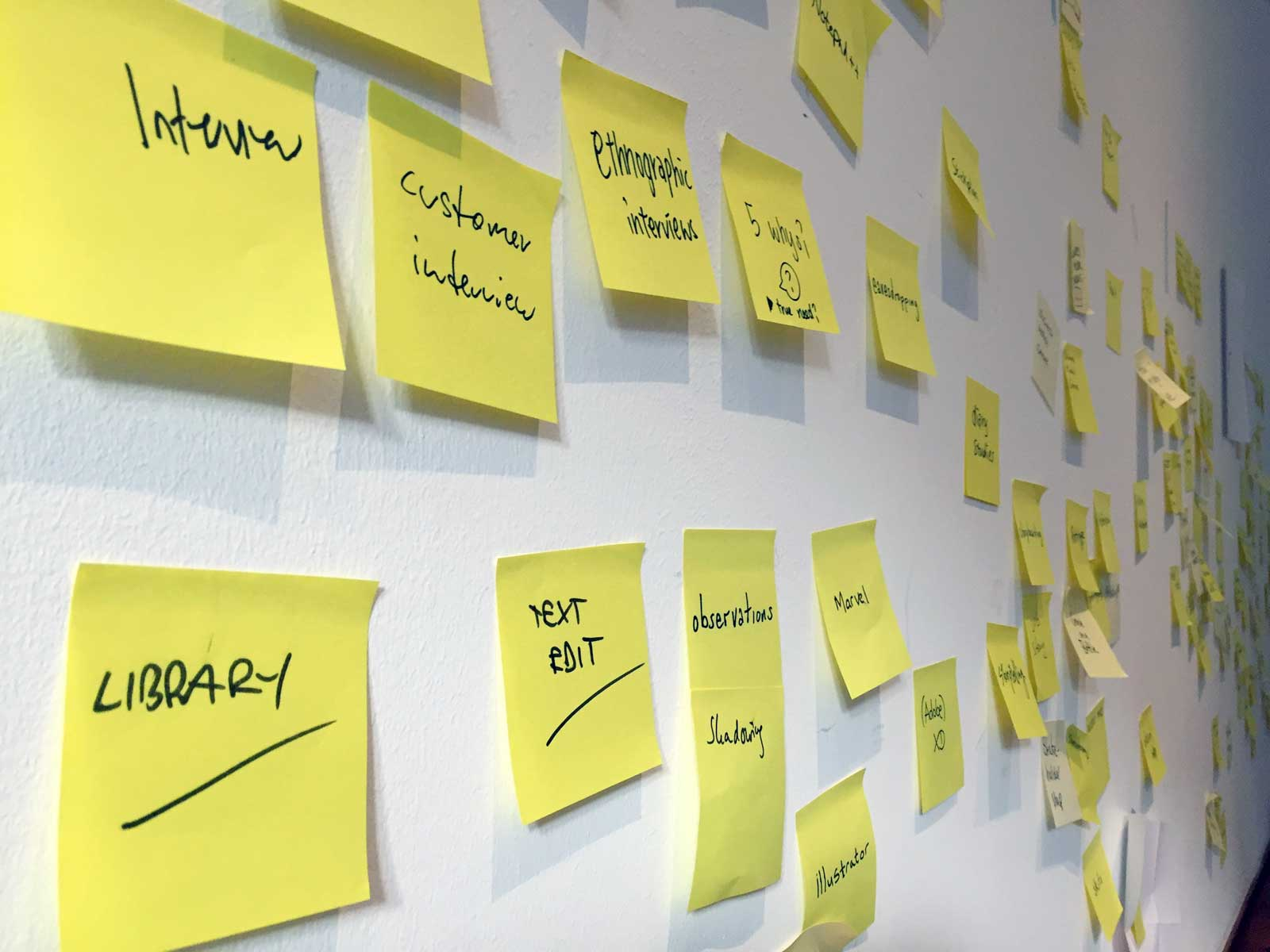 Service Design: Post its