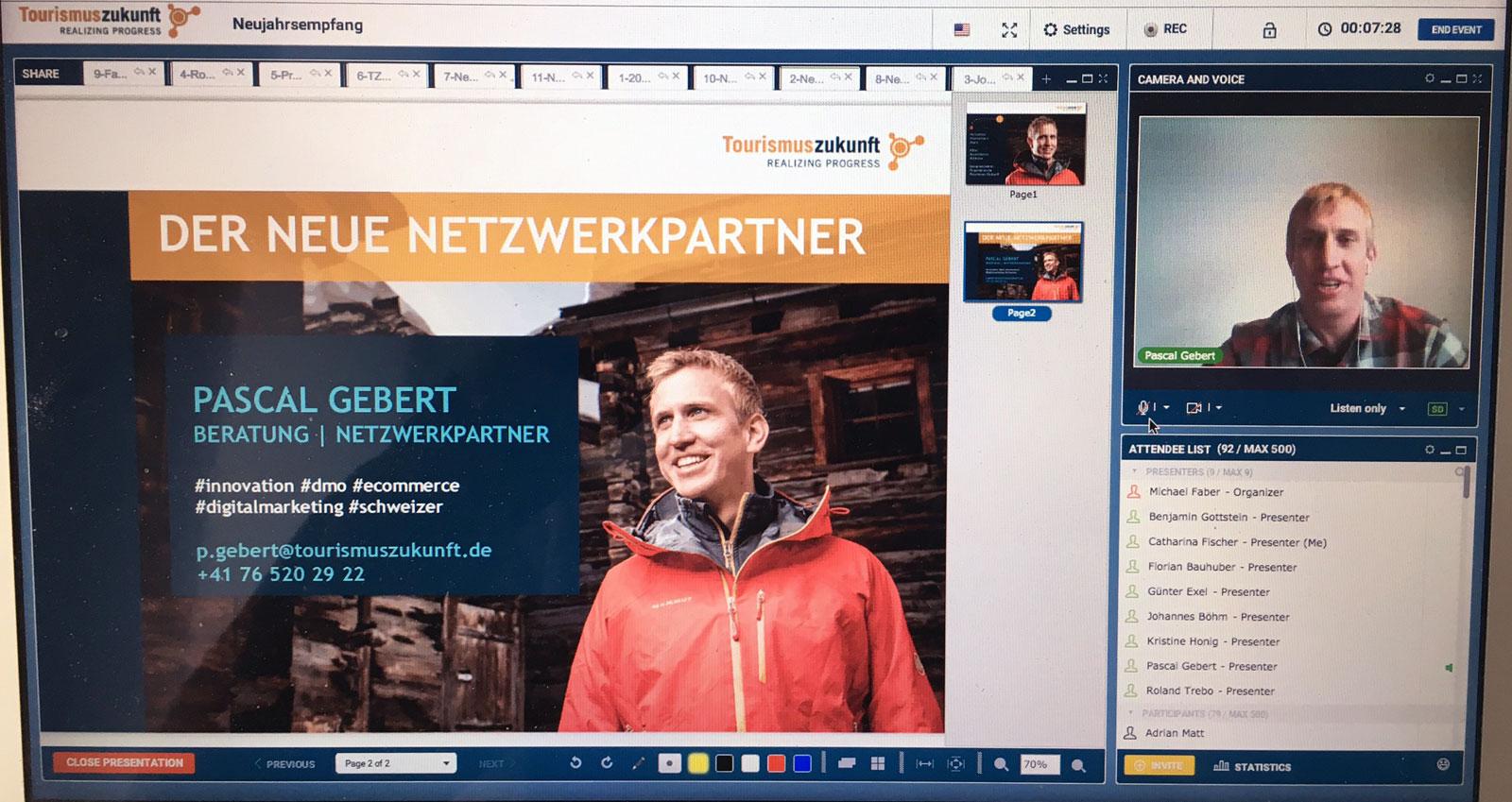 Pascal Gebert, der Schweizer im Team von Tourismuszukunft stellt sich vor