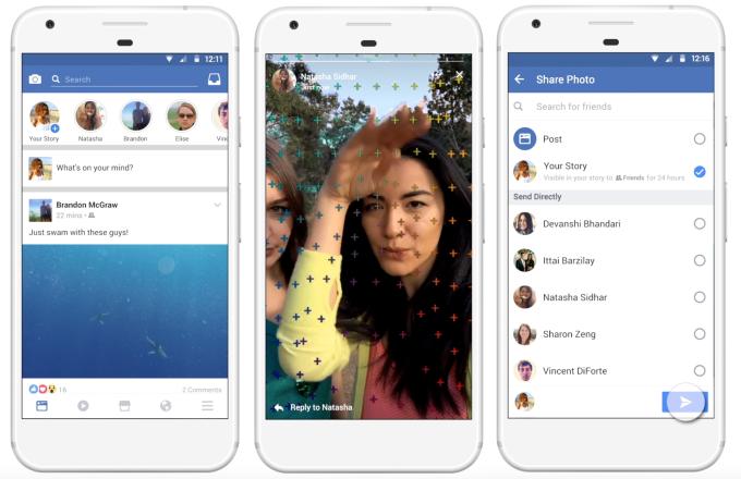 Schnelle Fotos und Videos, die nach 24 Stunden wieder verschwinden: Mit Facebook Stories kopiert Facebook das erfolgreiche Konzept von Snapchat Stories