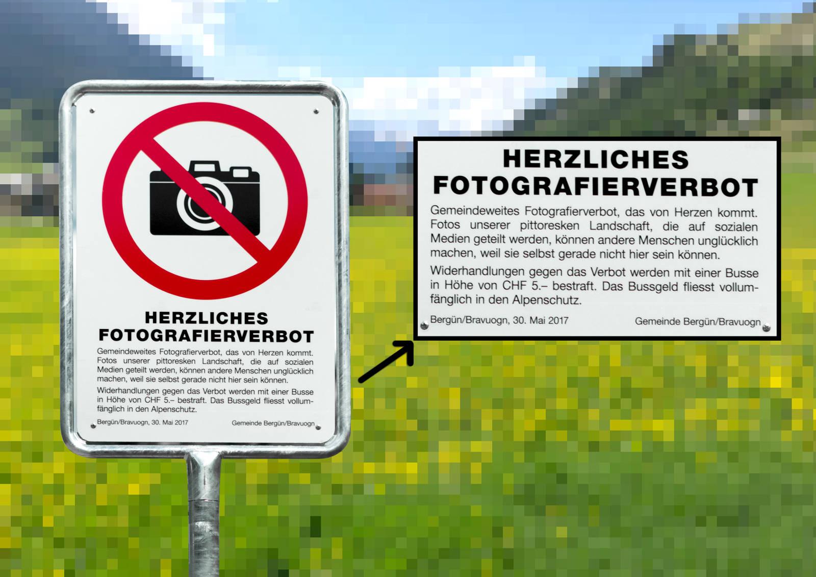 Fotoverbot in Bergün