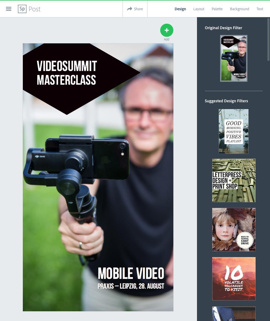 Adobe Spark Instagram Stories Template