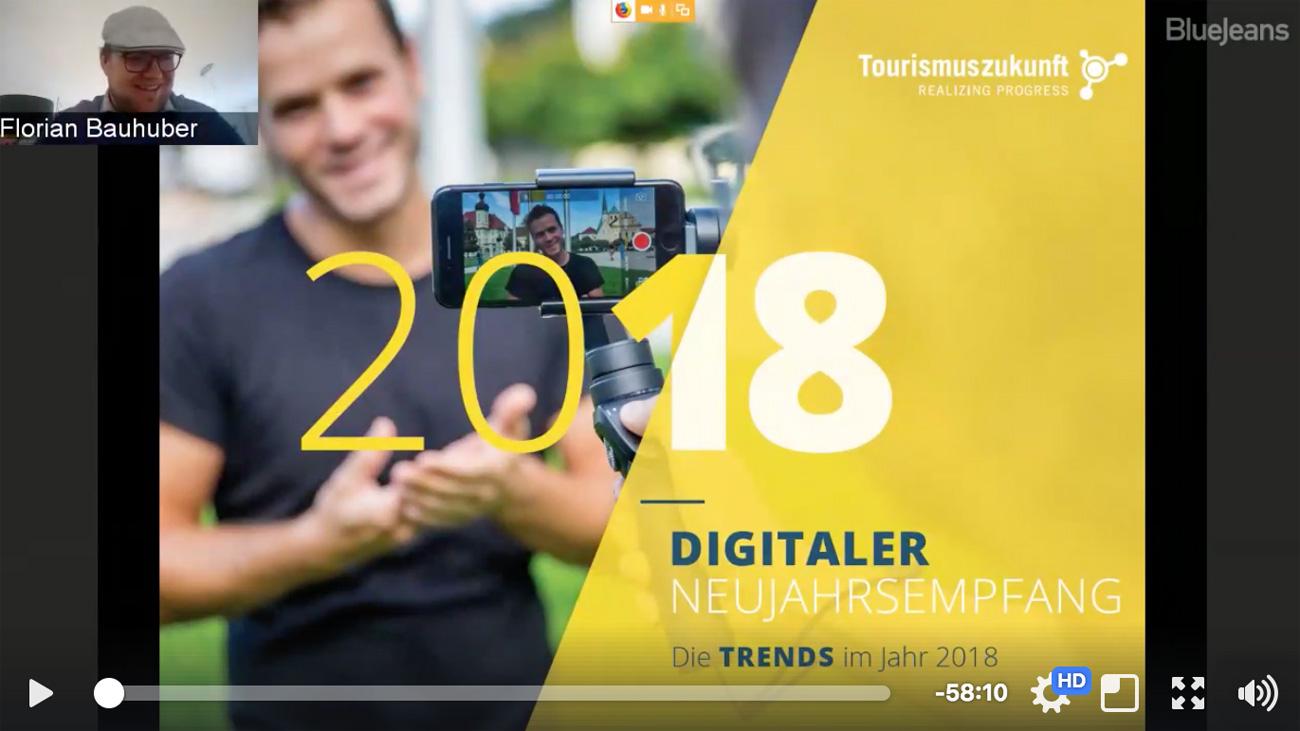 Digitaler Neujahrsempfang 2018 von Tourismuszukunft