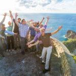 Tourismuszukunft Team beim Innovationsmeeting am Meer