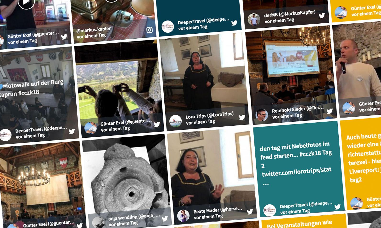 SocialWall zum #cczk18 Castlecamp 2018