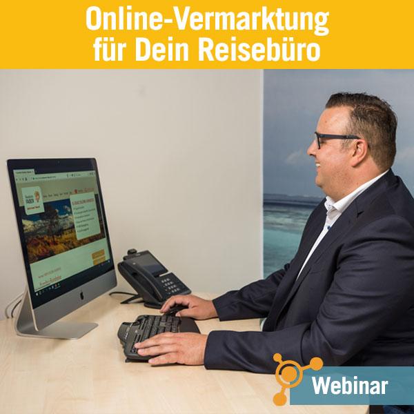 Webinar Online-Vermarktung für Dein Reisebüro