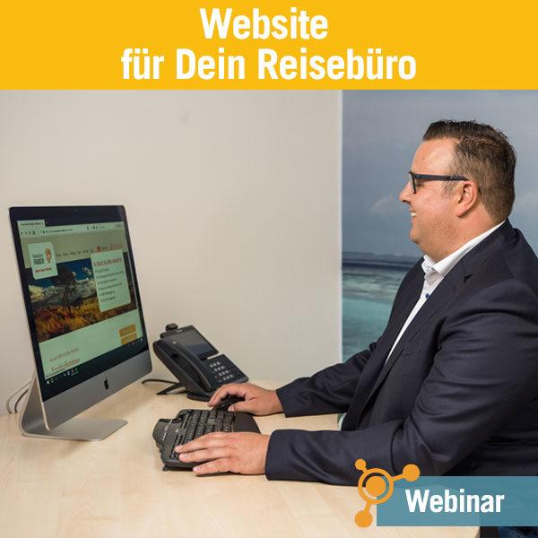 Webinar Website für Dein Reisebüro