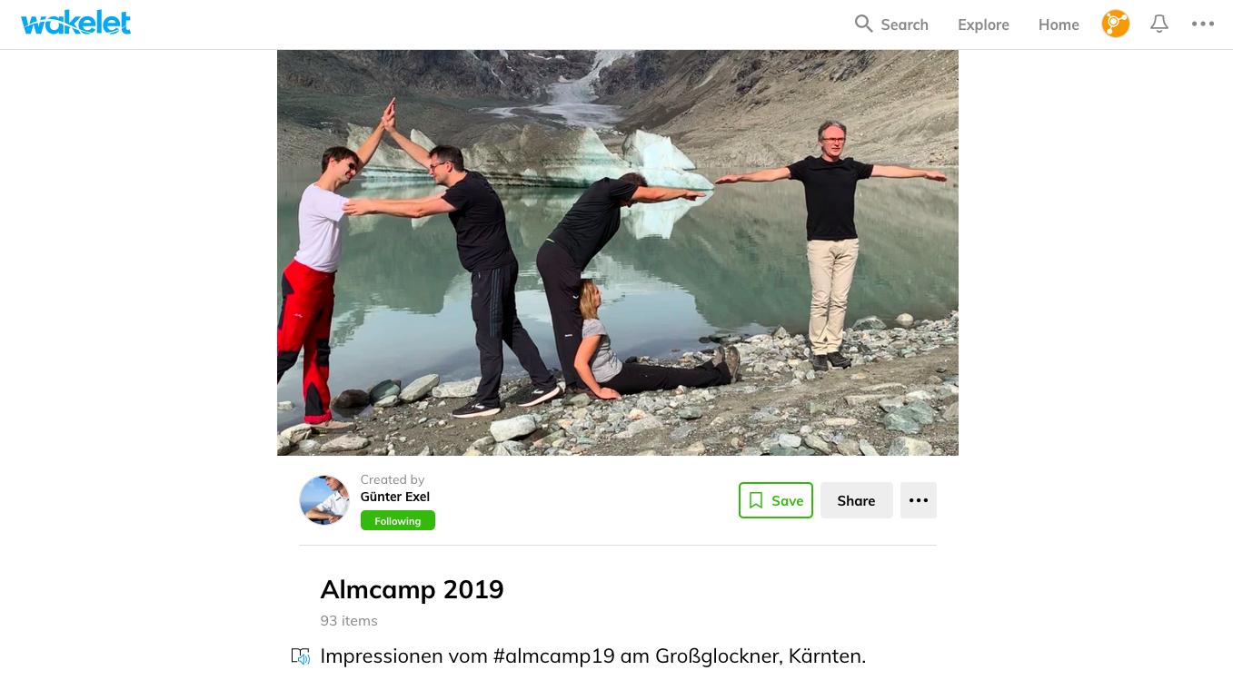 Das Almcamp 2019 – Mood Board auf Wakelet